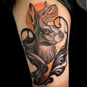 Tattoo by Vale Lovette #ValeLovette #NeoTraditionalTattoo #neotraditional #neotrad #artnouveau #artdeco