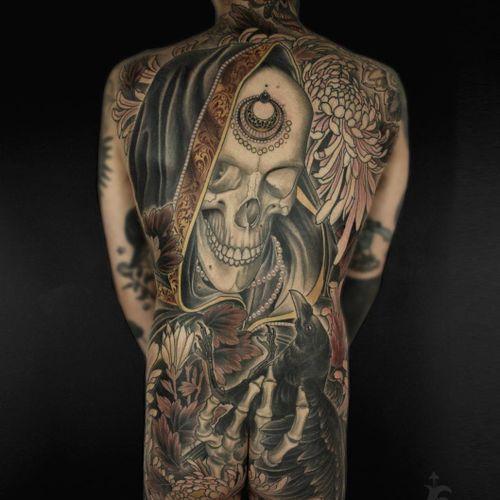 Tattoo by Antony Flemming #AntonyFlemming #NeoTraditionalTattoo #neotraditional #neotrad #artnouveau #artdeco