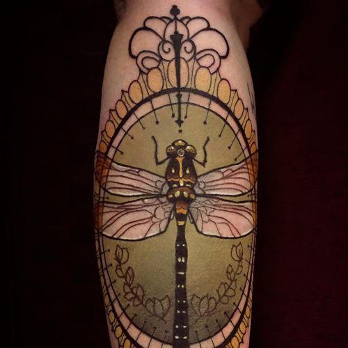 Tattoo by Chris Green #ChrisGreen #NeoTraditionalTattoo #neotraditional #neotrad #artnouveau #artdeco
