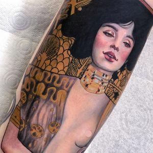 Tattoo by Hannah Flowers #HannahFlowers #NeoTraditionalTattoo #neotraditional #neotrad #artnouveau #artdeco