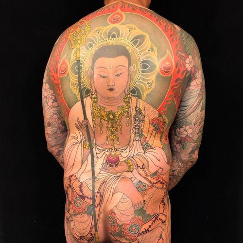 Tattoo by Shige Yellowblaze #shigeyellowblaze #japanesetattoos #japanese #irezumi #tebori