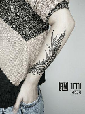 Baroque Inspired 🌿 by @angelmetall  __________ #angelmetallart #baroque #tattooart #armtatoo #tattooforgirls #wipshading #lineworktattoo #blacktattoo #tattoostyle #tattoooftheday #besttattooartists