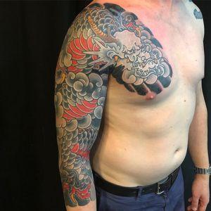 Tattoo by Takashi Matsuba #TakashiMatsuba #japanesetattoos #japanese #irezumi #tebori