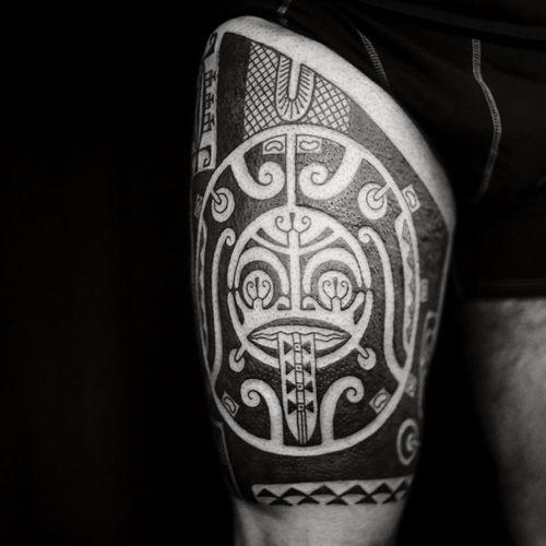 Tattoo by Igor Kapman #IgorKapman #tribaltattoos #tribaltattooing #tribal #ancient #blackwork #pattern #linework #dotwork #shapes #abstract