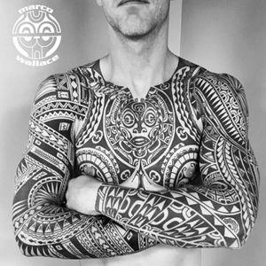 Tattoo by Jeroen Franken, Rob Deut, Marco Wallace #JeroenFranken #RobDuet #MarcoWallace #tribaltattoos #tribaltattooing #tribal #ancient #blackwork #pattern #linework #dotwork #shapes #abstract