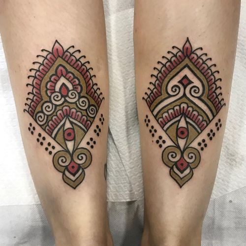 Tattoo by Cloditta #Cloditta #tribaltattoos #tribaltattooing #tribal #ancient #blackwork #pattern #linework #dotwork #shapes #abstract