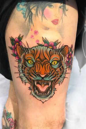 #tiger #neotraditional #tattoo