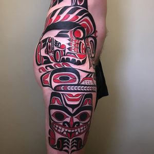 Tattoo by Jeroen Franken #JeroenFranken #tribaltattoos #tribaltattooing #tribal #ancient #blackwork #pattern #linework #dotwork #shapes #abstract