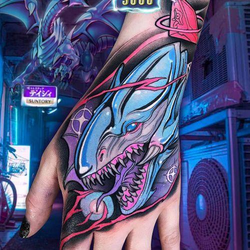 Tattoo by Brando Chiesa #BrandoChiesa #newschooltattoo #newschool #color #alien