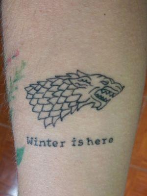 #gameofthronestattoo #housestark #winteriscoming #winterishere