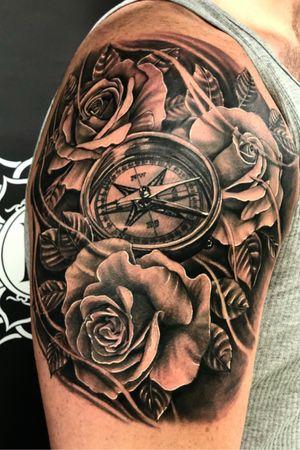 NEVER STOP MOVING FORWARD #blackandgrey #tattooartist #tattoos #art #kevinibanez
