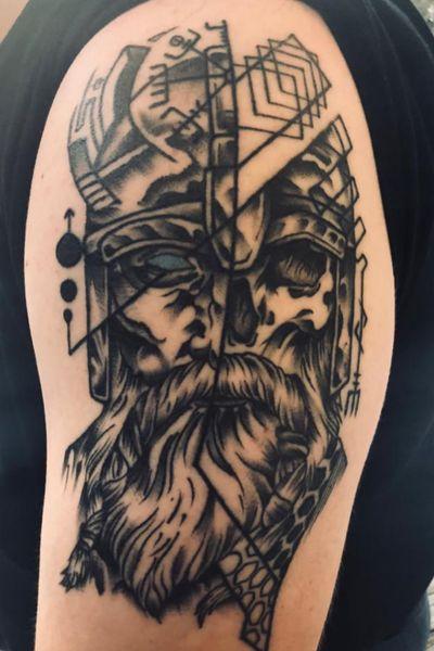 Viking/skull #vegvisir #Odin