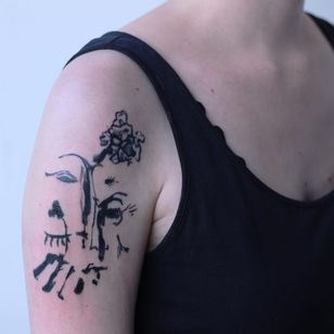 Tattoo by Maison Métamose #MaisonMétamose #MaisonMetamose #abstract #watercolor #illustrative #poetry #sketch