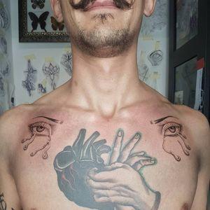 Hand Poked Tattoo done at Manomorta Tattoo Bergamo. For info write me silviaplacenta@gmail.com #handpoke #handpoketattoo #handpoked #sticknpoke #tattooartist #tattooitaly #tattooist #tattooitalia #Tattoodo #inked #eyestattoo