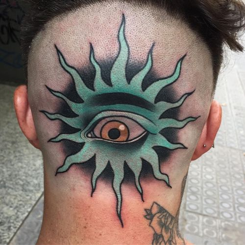 Tattoo by Kike Esteras #KikeEsteras #newschooltattoo #newschool #color #eye