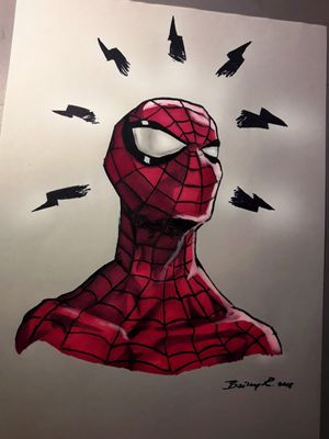 This whole drawing is colored by markers ( my first time using markers in a drawing )