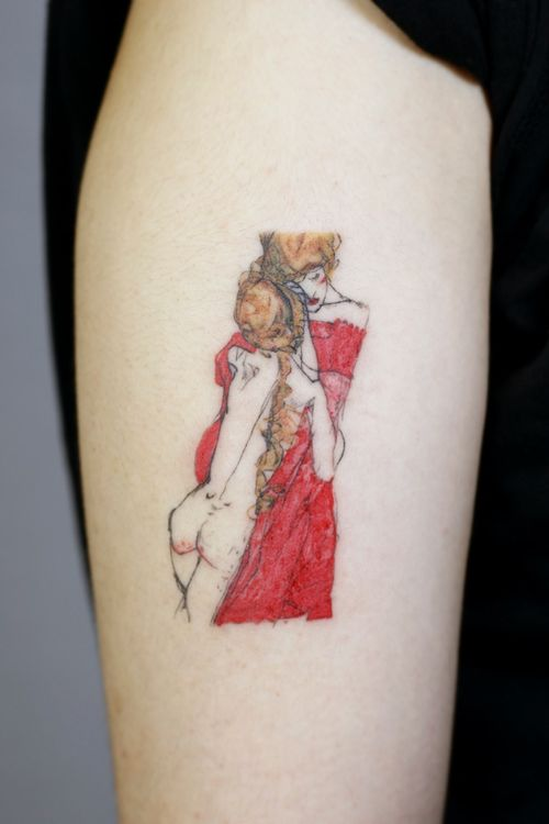 Mother and Daughter By Egon Schiele #egonschiele #motheranddaughter