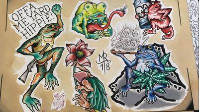 Hit me up to get em tattooed!! #frog #frogtattoo #wastedyouth #dicktattoo #shotgun #tattooflash #tattoodesign #wannadotattoo #wannado #traditionaltattooflash #traditional #traditionaltattoo #traditionaltattoobasel #tattoo #baseltattoostudio #baseltattoo #basel #boldwillhold #tattoobasel #tattoostudiobasel #swisstattooartist @baseltattoo
