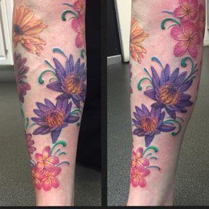 Lotus and Frangipani flowers