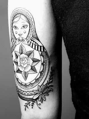 #russiannestingdolltattoo #shannonbrowntattoos #localcolortattoos #LocalColorInk #westchesterpa #pennsylvania #tattooshop