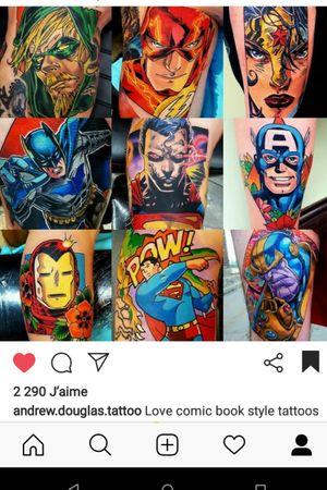 #MarvelTattoo #DCTattoos #SuperheroTattoos