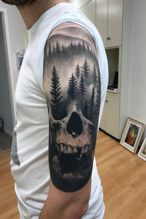 Healed #skulltattoo #realism #realistictattoo #skull