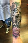 Tiger ans flower coverup