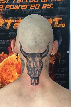 bull skull. #bullskull #bulltattoo #skulls #blackandgrey