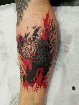 #tattoo #trashpolkatattoo #crowtattoo