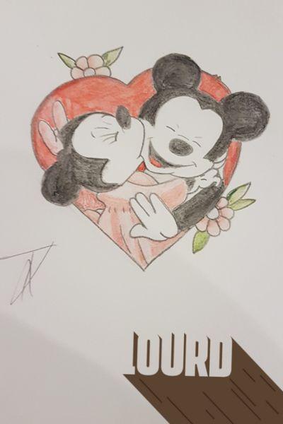 Les loves retrouvailles #minnieandmickey #disneytattoo #disney #Mickey #mouse #Minnie