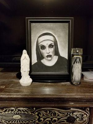 I drew my wife as a nun