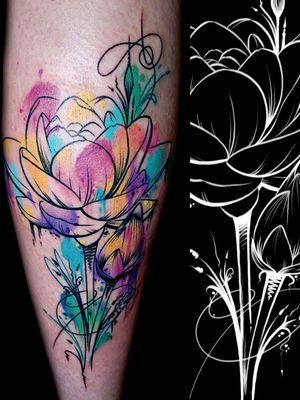 #lotusflower #watercolortattoos #shannonbrowntattoos #shannonbrownart #LocalColorInk #localcolortattoos #westchesterpa #pennsylvania #tattooshop