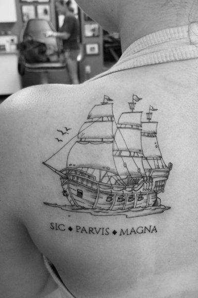 #ship #pirateship #pirate #uncharted #ps4 #boat #ocean #sea #sicparvismagna #latin