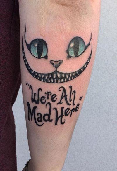 #TimBurton #allmadhere #smile #CheshireCat #aliceinwonderland #colour #linework #eyes