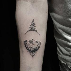 Nature #tattoo #tattoos #dotworktattoo #dotwork