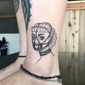 Tattoo by James Lauder #JamesLauder #MrLauder #illustrative #popart #Barbie #gag #bdsm