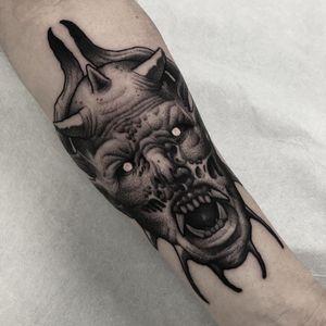 Tattoo by El Uf #ElUf #satantattoos #satan #devil #demon #hell #death #blackandgrey #darkart #neotraditional #illustrative