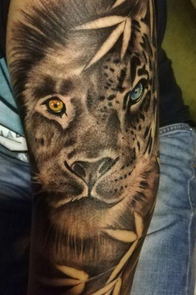 #liontattoo #lion #leopardtattoo #leopard #animaltattoo