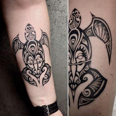 #tattooart #Black #maori #turtle