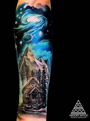 Space Forest  by inkport tattoo -  @inkporttattoo                                                                        #Москва #moscowtattoo  #space #tattooartist #акварельтату #moscow #watercolor #woods #usa  #tattoomoscow #tattoo #forest #татуировка #watercolortattoo inkporttattoo #inkporttattoo  #msk #татумастер  #dotworktattoo #тату #watercolortattoos #abstract #abstracttattoo #europe  moscow watercolortattoo USA Europe watercolortattooartist watercolortattoo