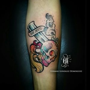 #pipetattoo #neotraditionaltattoo #colortattoo #owndesign
