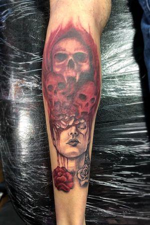 Unknown artists design from Tattoodo, tattooed by Danie Carter
