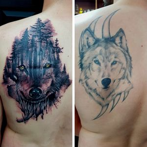 Cover up done by Dee #coverup #coveruptattoo #wolf