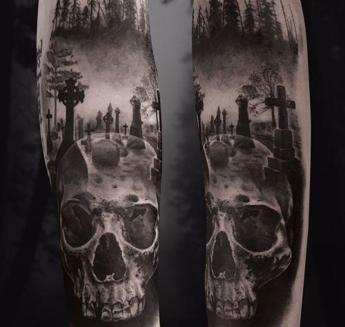 #kwadroncartridges #inkjecta #silverbackink #ink #inkstagram #hannover #braunschweig #blackandgreyrealism #portraittattoo #realism #realistic #skull #skulltattoo