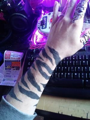Just some more sharpies tiger stripes What do you think? Should I do them for real? If I do ill have a full sleeve of tiger stripes
