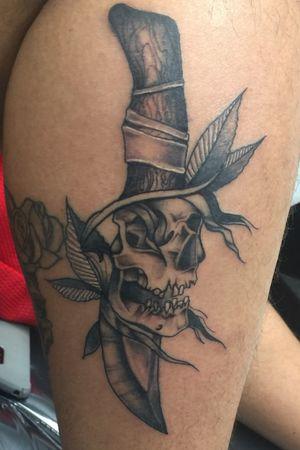 Skull & Knife Piece That I Put My Little Twist On 💉💉 #firstpost #Tattoo #tattoos #tattooartgallery #skulltattoo #artgallery #blackandgrey #smoothshading #art #sullen #linework #inked #girlswithtattoos #guyswithtattoos #inklife #Helios #BishopFantom #rotary #bishoprotary #eternalink #tattooporn #inkmywholebody #artgallery #newyorktattooer #newyorktattoos #longisland #longislandtattooer #inkaddict #inkaholic