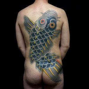Tattoo by Ichi Hatano of Ichi Tattoo Tokyo #IchiHatano #IchiTattooTokyo #Japanese #Irezumi #horimono #Tokyo #Japan #koi #fish #backpiece