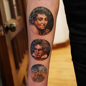 3 circles  Caravaggio  Beethoven Van Gogh - Field