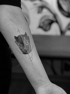 Tiger #tigertattoo #blackandgrey #linework #geometrictattoo #animals