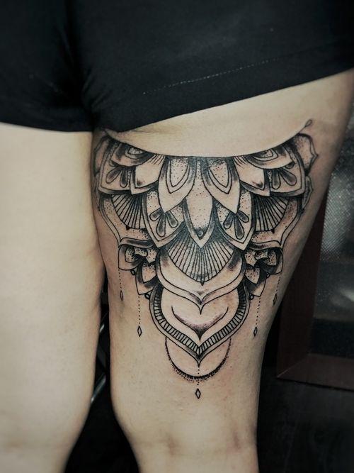 #mandala #design #blackwork #dotwork #tattooideas #tattoodesign #voodootatts
